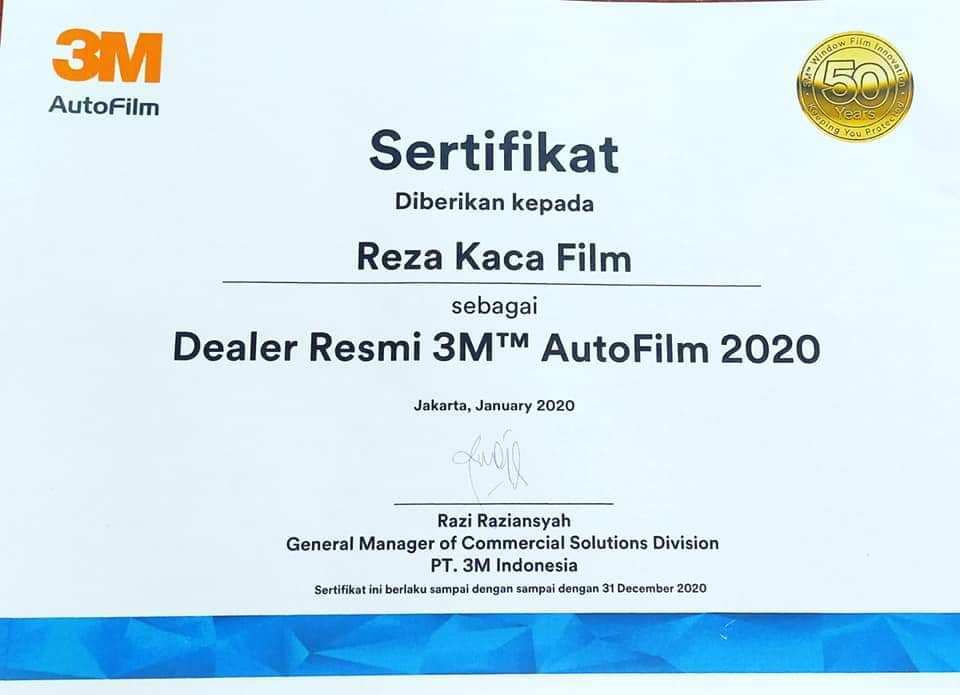 sertifikat dealer 3m